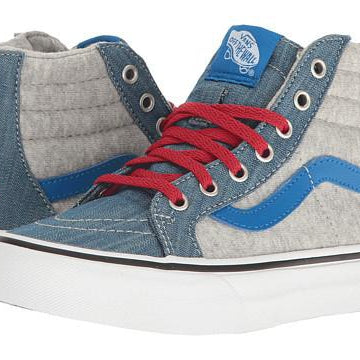 VANS TODDLER JERSEY & DENIM SK8-HI ZIP SHOES
