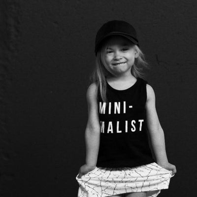 Huxbaby mini-malist singlet black at Billie & Axel, Montreal, Canada