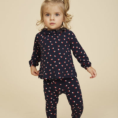 Soft Gallery Baby Paula Leggings Navy Blazer Heartfly Billie & Axel, Canada & USA