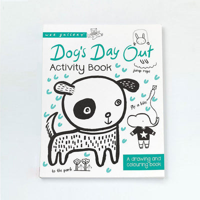 "WEEGALLERY DRAWING & COLORING BOOK ""DOG'S DAY OUT"""