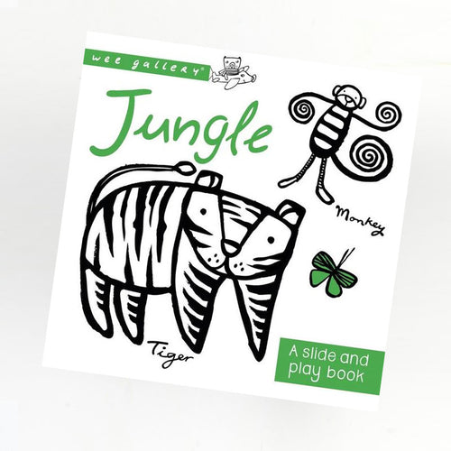 WEEGALLERY BABY SLIDE AND PLAY BOOK JUNGLE
