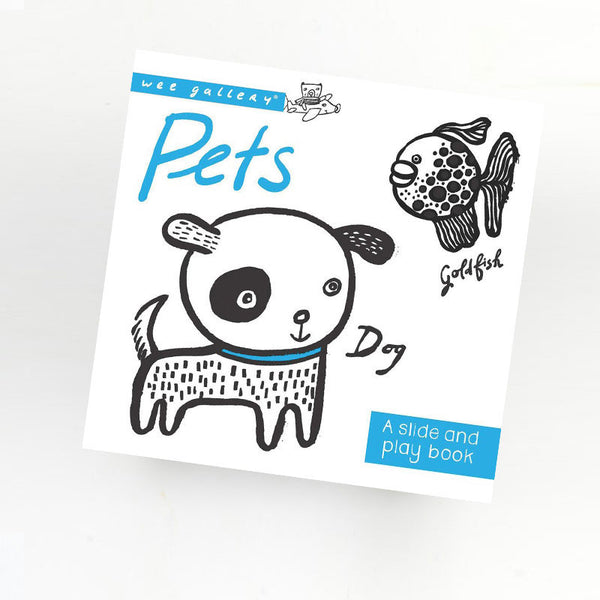 WEEGALLERY BABY SLIDE AND PLAY BOOK PETS
