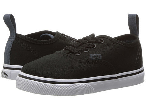 VANS TODDLER AUTHENTIC ELASTIC BLACK-SHOES-VANS-Billie & Axel, Montreal, Canada & USA