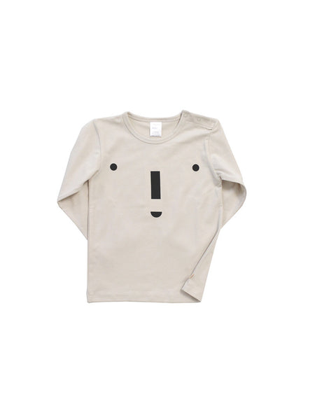 TINYCOTTONS BIG FACE GRAPHIC TEE BEIGE