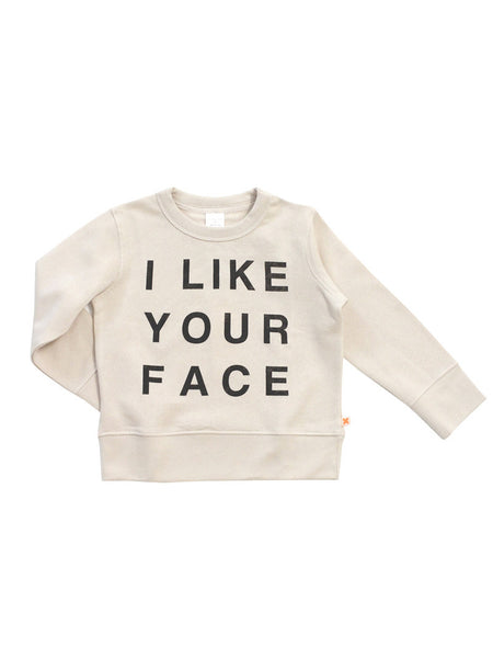TINYCOTTONS I LIKE YOUR FACE SWEATSHIRT Billie & Axel, Montreal, Canada