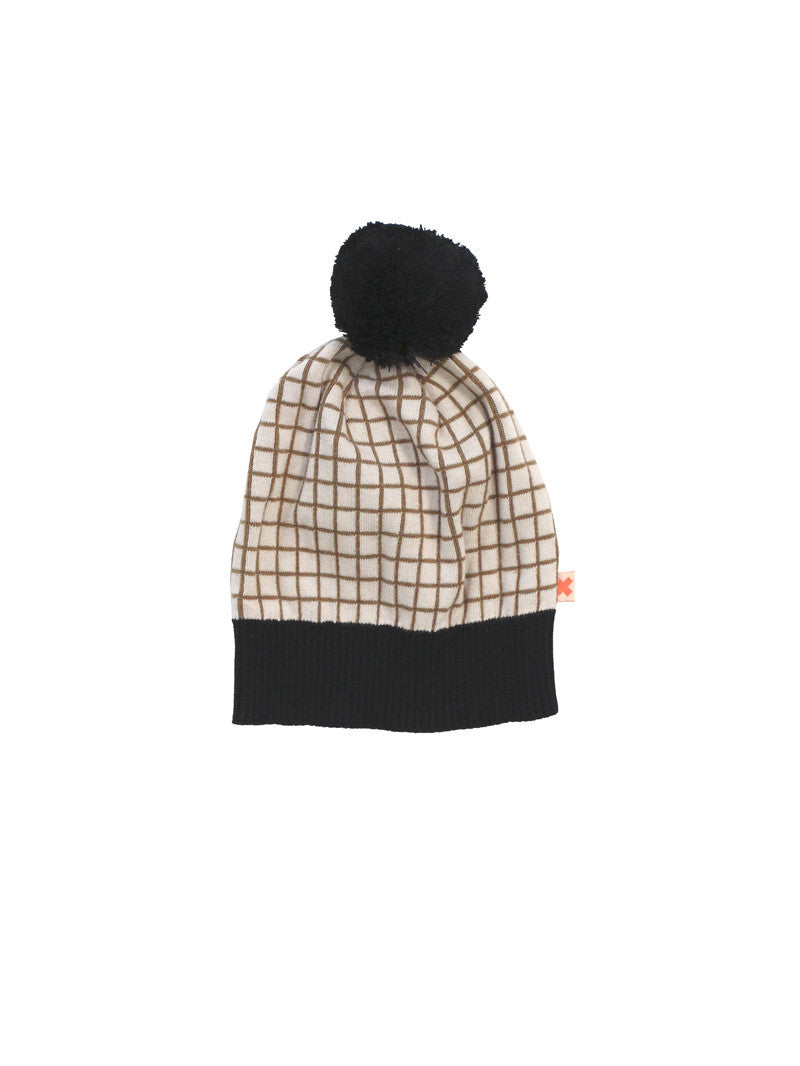TINYCOTTONS GRID BEANIE CREAM/BLACK Billie & Axel, Montreal, Canada
