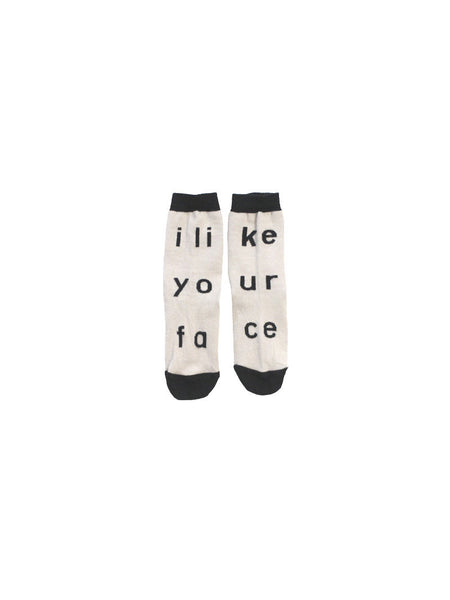 TINYCOTTONS I LIKE YOUR FACE SOCKS Billie & Axel, Montreal, Canada
