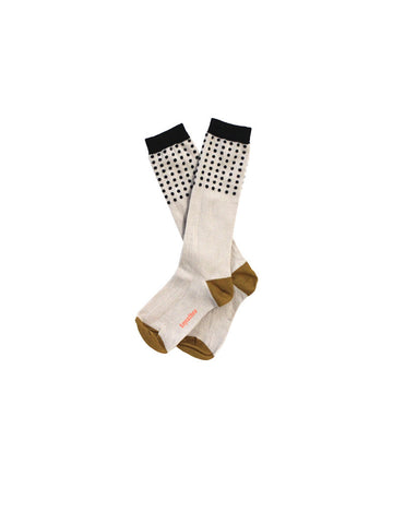 TINYCOTTONS DOTS HIGH SOCKS CREAM BLACK Billie & Axel, Montreal, Canada