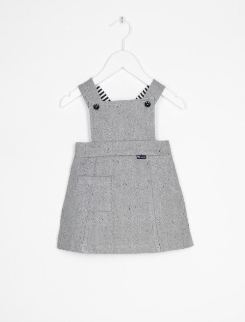 L'ASTICOT ORGANIC TWILL DRESS GREY-DRESS-L'ASTICOT-Billie & Axel, Montreal, Canada & USA