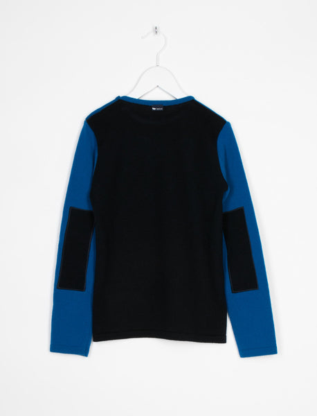 L'ASTICOT ORGANIC WOOL JUMPER ROYAL & NAVY BLUE
