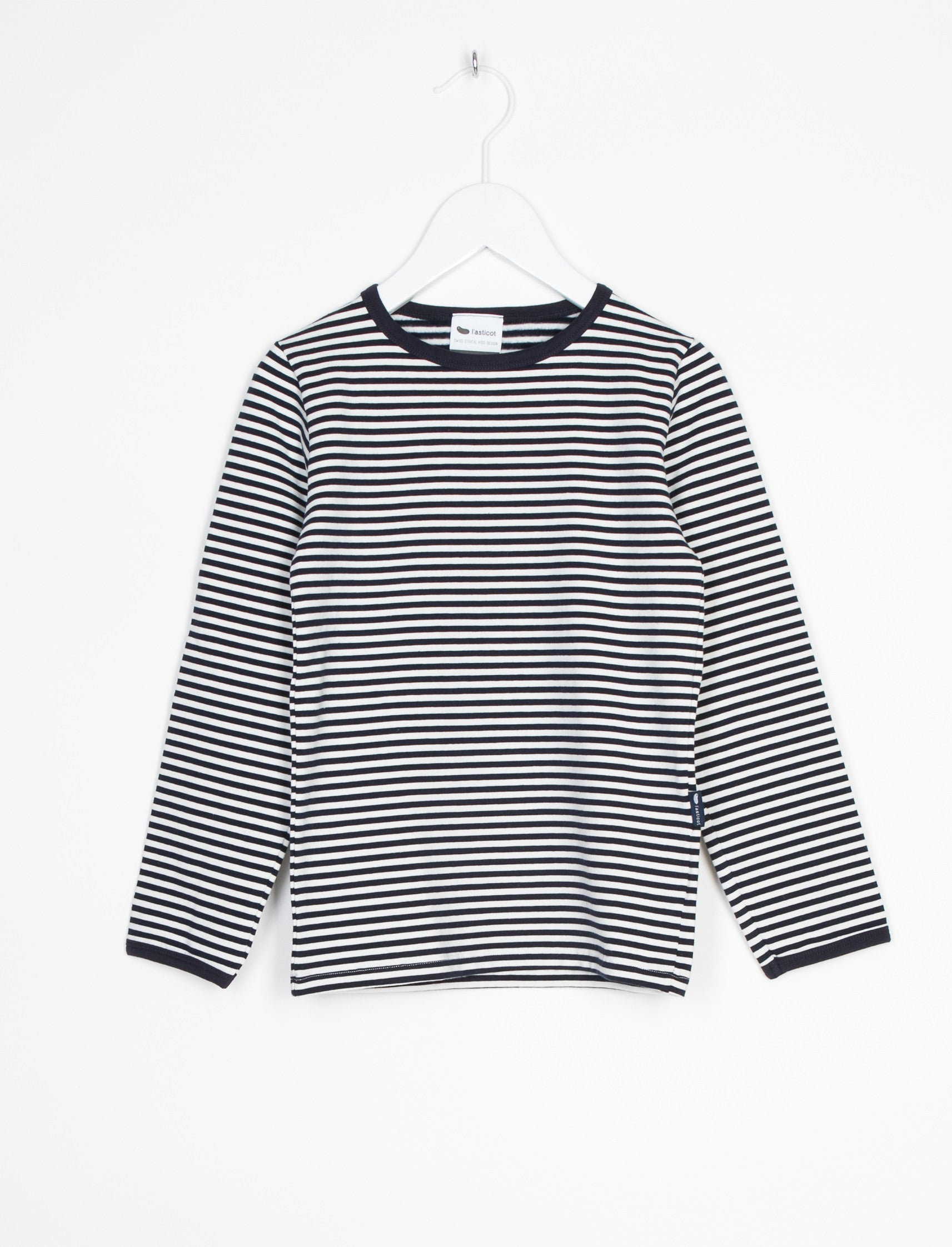 L'ASTICOT ORGANIC COTTON TEE BLUE STRIPES-TOP-L'ASTICOT-Billie & Axel, Montreal, Canada & USA