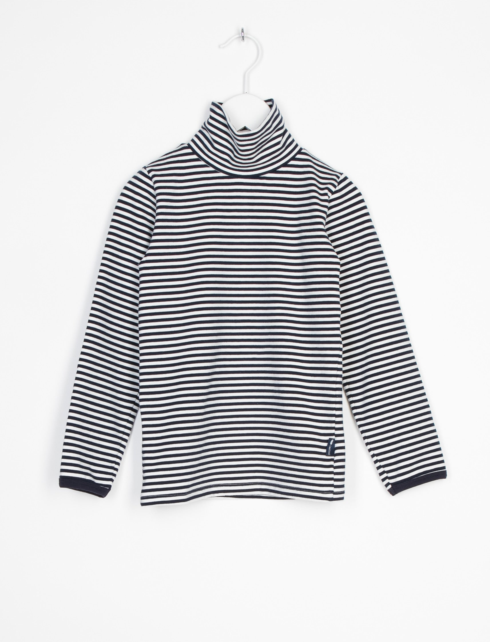 L'ASTICOT ORGANIC COTTON TURTLENECK BLUE STRIPES