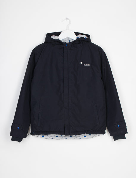 L'ASTICOT ORGANIC COTTON WATERPROOF JACKET BLUE CABLE CARS