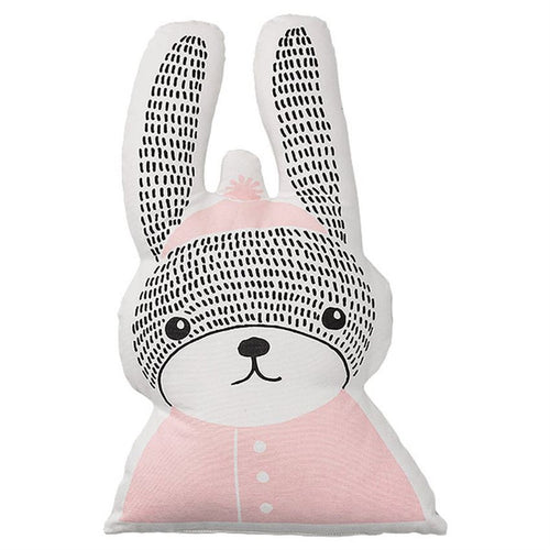 Bloomingville pillow cotton pink rabbit shaped Billie & Axel canada usa