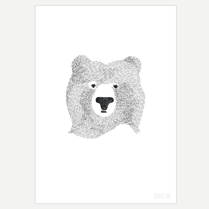 SEVENTY TREE A4 PRINT BEAR OF FEW WORDS