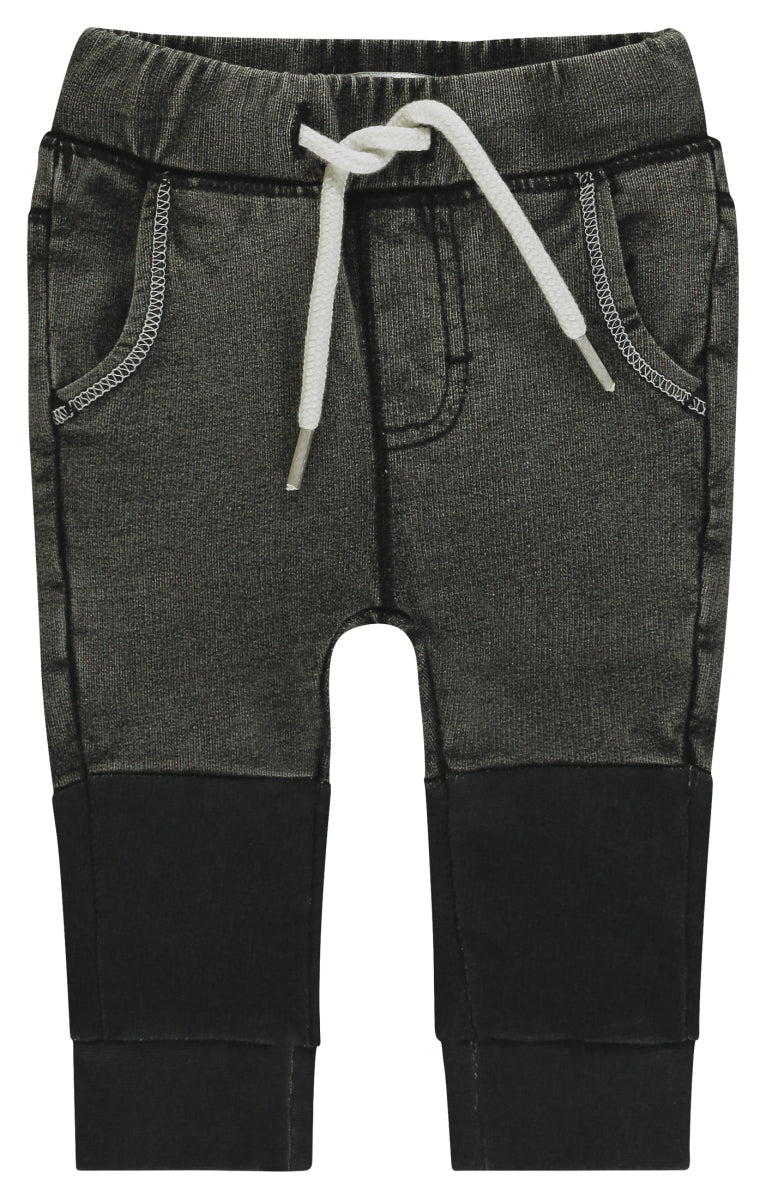Noppies Jeans Comfort Wotawa Grey Overdyed Baby denim at Billie & Axel canada usa