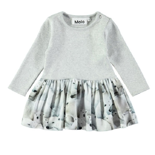 MOLO Carel Dress LS Polar Bear Jersey-Dress-MOLO-Billie & Axel, Montreal, Canada & USA