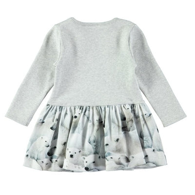 MOLO Carel Dress LS Polar Bear Jersey
