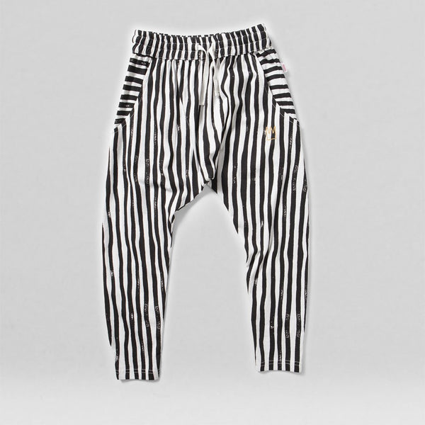 MUNSTERKIDS PANT CARNIVAL CHARCOAL STRIPE
