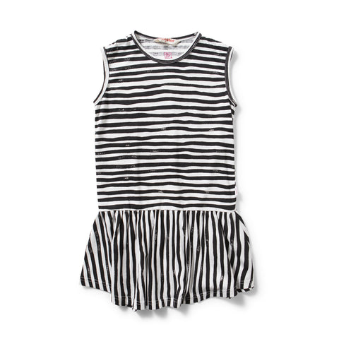 MUNSTERKIDS DRESS CHARLIE CHARCOAL STRIPE Billie & Axel, Montreal, Canada