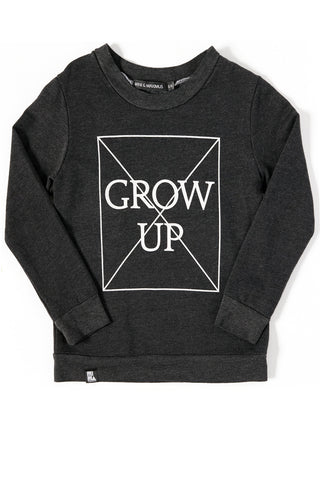 MINI AND MAXIMUS DON'T GROW UP SWEATSHIRT BLACK Billie & Axel, Montreal, Canada