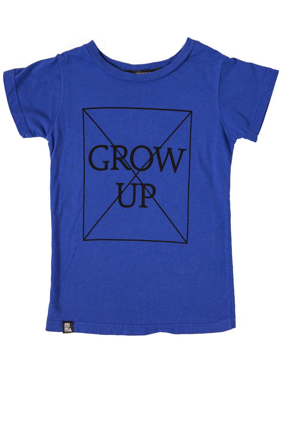 MINI AND MAXIMUS DON'T GROW UP TEE BLUE-TOP-MINI AND MAXIMUS-Billie & Axel, Montreal, Canada & USA