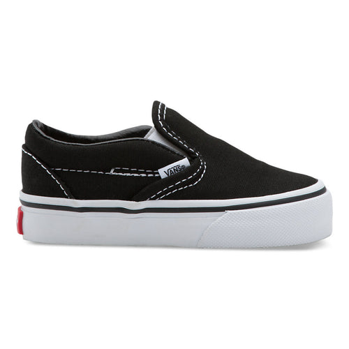 VANS CLASSIC SLIP ON BLACK (TODDLERS)-SHOES-VANS-Billie & Axel, Montreal, Canada & USA