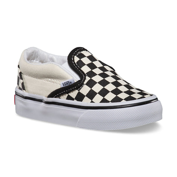 VANS SLIP-ON BLACK/TRUE WHITE CHECKERBOARD (KIDS)