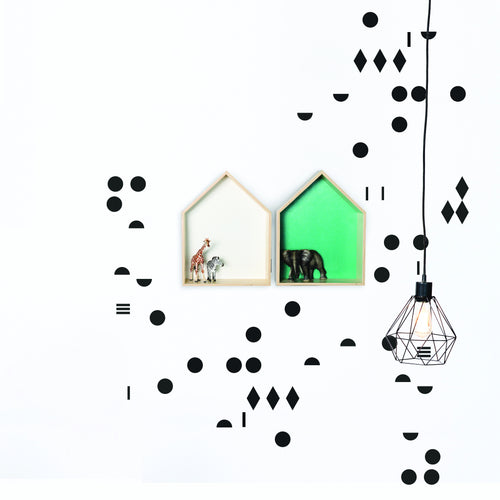 GAUTHIER STUDIO WALL STICKER BLACK POLKA DOTS Billie & Axel, Montreal, Canada