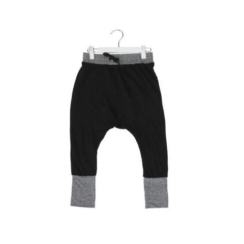 HUXBABY BEAR ESSENTIALS HIGH CUFF PANT BLACK