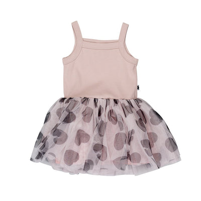HUXBABY SUMMER BALLET DRESS ROSE DUST-dress-HUXBABY-Billie & Axel, Montreal, Canada & USA