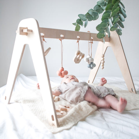 Loullou 1st Play Baby Gym Natural Wood