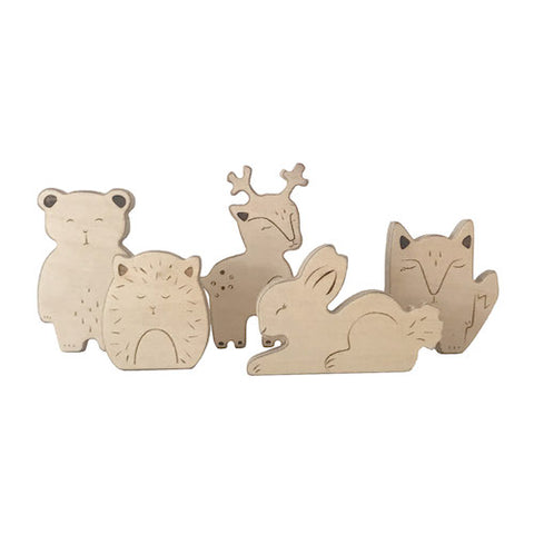 Loullou Wooden Animals of the Forest