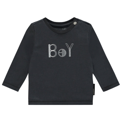 Noppies Longsleeve Tiverton Charcoal-TOPS-NOPPIES-Billie & Axel, Montreal, Canada & USA