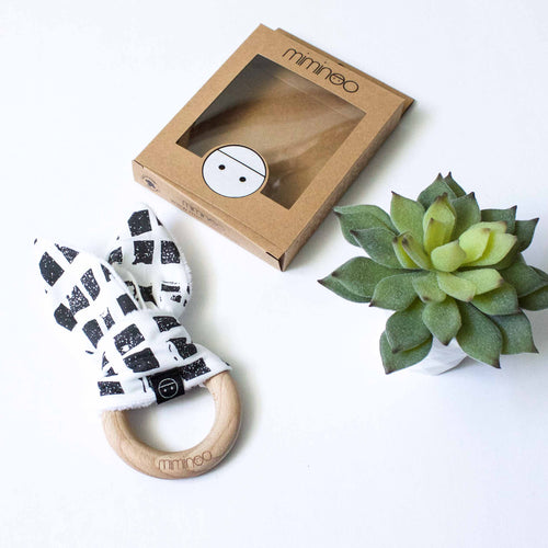 Miminoo Wood Teether Bunny Ears Square