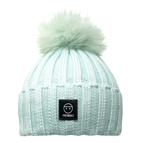 Angora Classic Line Hat Mint One Pompom-Winter Hats-Miminoo Montreal Canada USA.