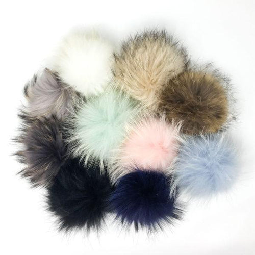 Real Fur Large Pompom-POMPOMS-Miminoo Montreal Canada USA.