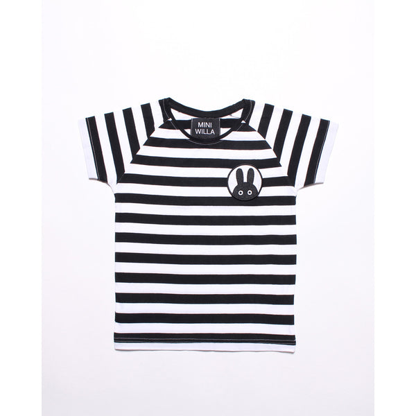 MINIWILLA HELLO I'VE GOT STRIPES TEE
