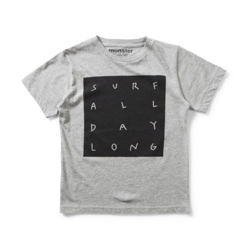 MUNSTERKIDS TEE ALL DAY TEE GREY MARLE Billie & Axel, Montreal, Canada