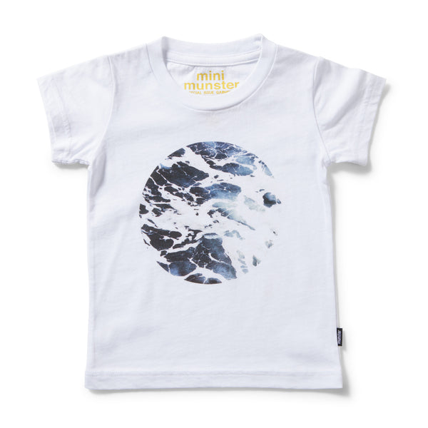 MUNSTERKIDS TEE BLOWHOLE WHITE Billie & Axel, Montreal, Canada