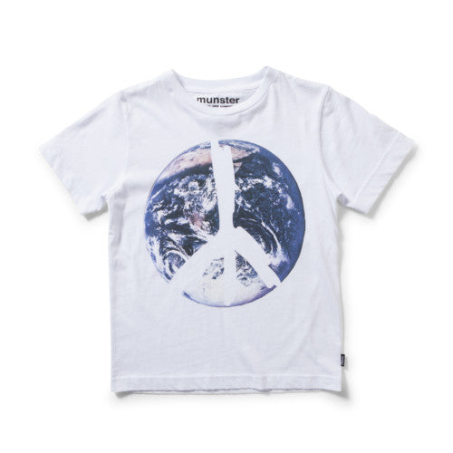 MUNSTERKIDS TEE ONE WORLD WHITE Billie & Axel, Montreal, Canada