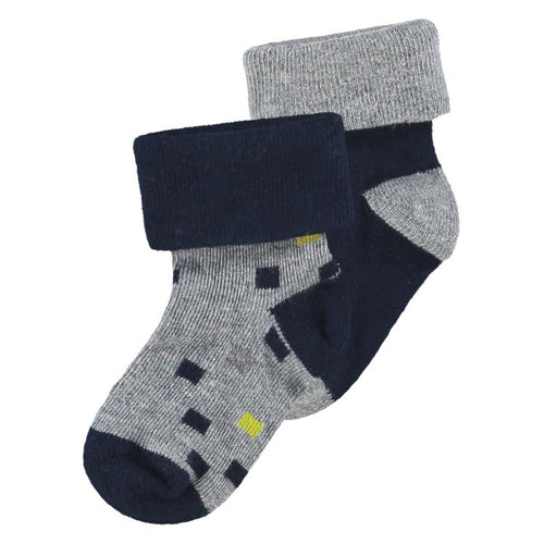 NOPPIES Socks 2pck Warrensburg Grey Melange 6-12m