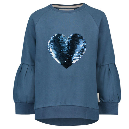 NOPPIES Sweater Wethersfield Icy Green sequin heart blue silver Billie & Axel canada usa