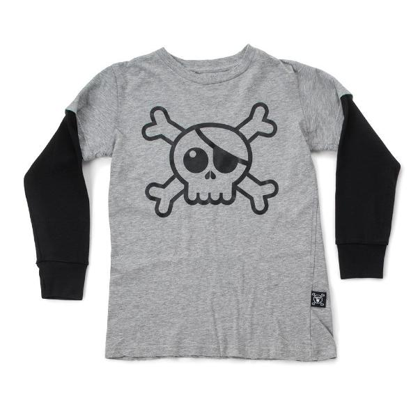Nununu Skull Tee Heather Grey at Billie & Axel online store Canada USA