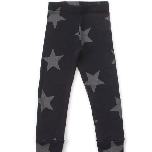 NUNUNU STAR LEGGINGS BLACK