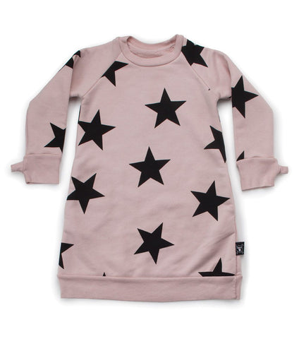 NUNUNU STAR A DRESS POWDER PINK