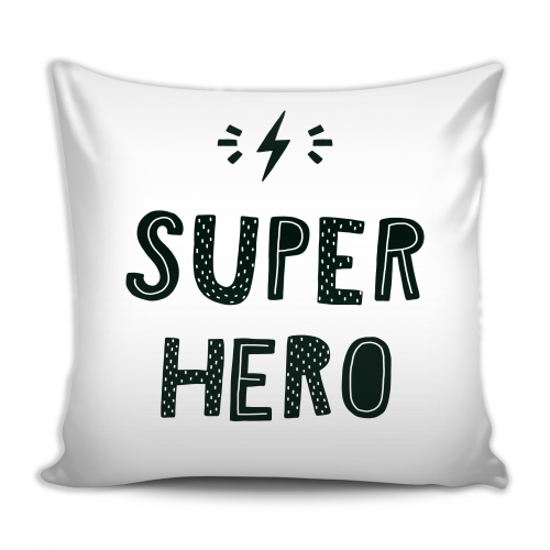 MKS PILLOW SUPER HERO-PILLOW-MODERN KIDS SOCIETY-Billie & Axel, Montreal, Canada & USA