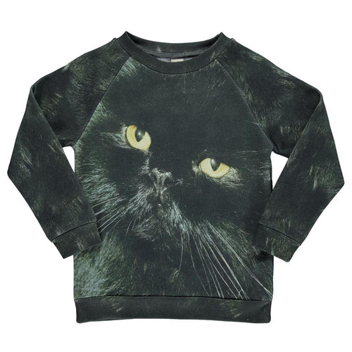 POPUPSHOP BASIC SWEAT BLACK CAT-SWEATER-POPUPSHOP-Billie & Axel, Montreal, Canada & USA