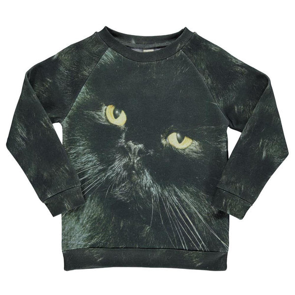 POPUPSHOP BASIC SWEAT BLACK CAT