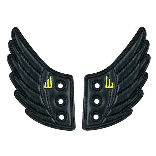 Shwings Shoes Wings Black-ACCESSORIES-SHWINGS-Billie & Axel, Montreal, Canada & USA